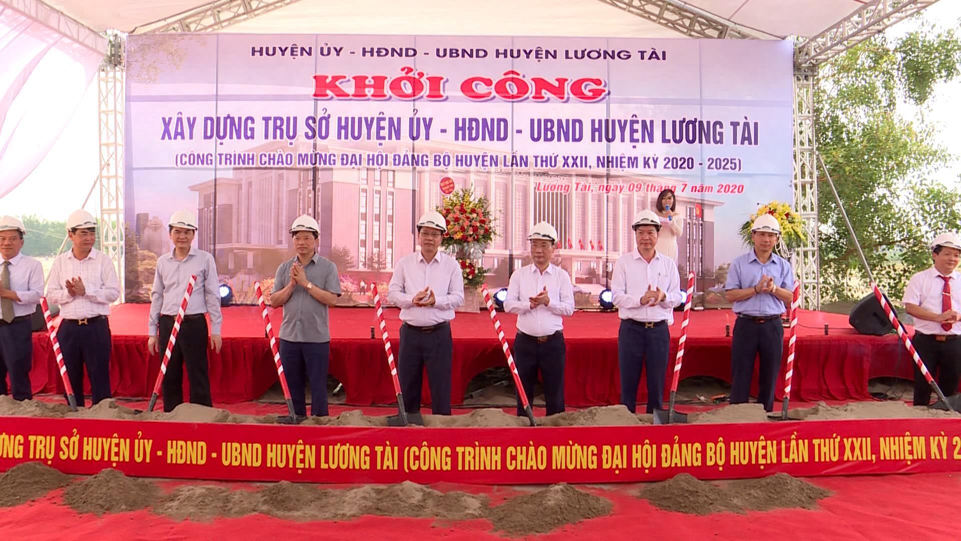 Khởi công xây dựng trụ sở Huyện ủy –HĐND-UBND huyện Lương Tài