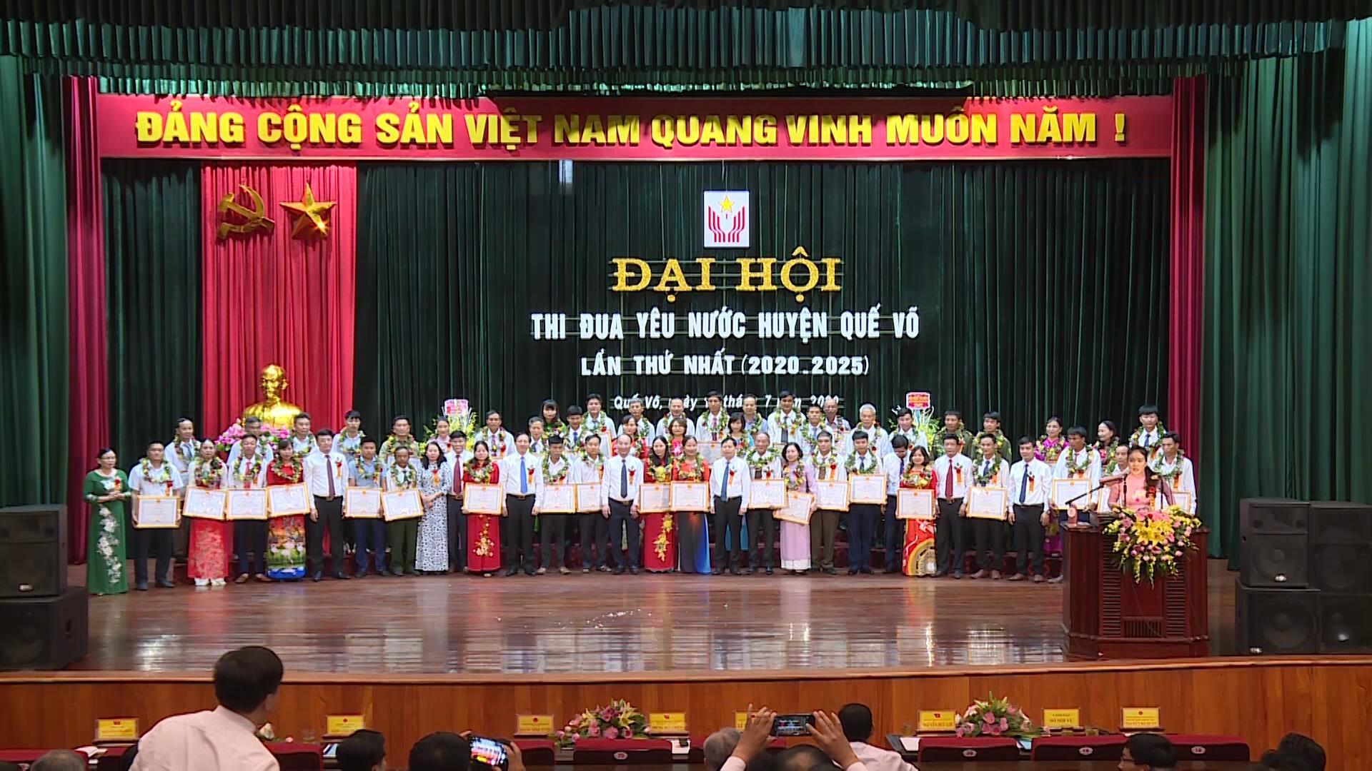 Đại hội thi đua yêu nước huyện Quế Võ lần thứ nhất (giai đoạn 2020 - 2025)