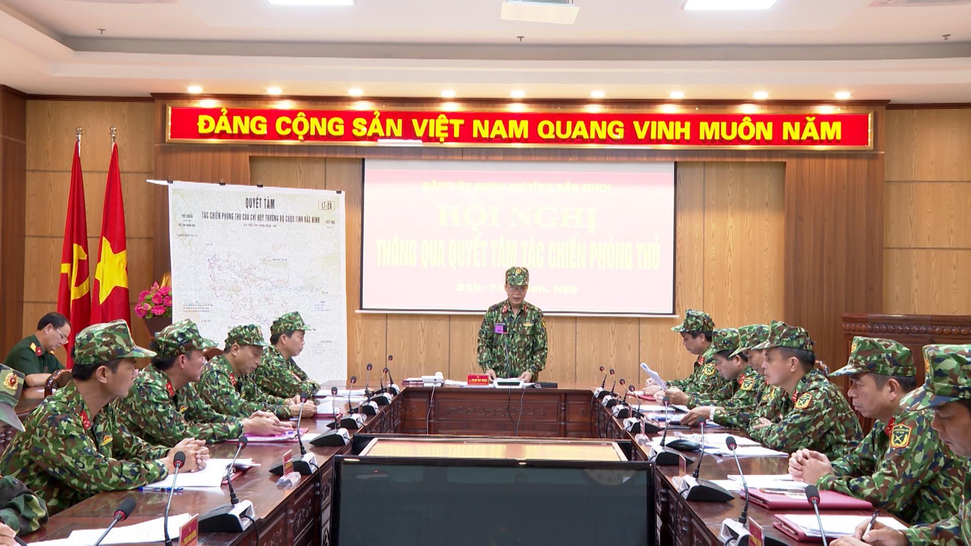 Bộ CHQS tỉnh luyện tập chỉ huy - tham mưu một bên hai cấp trên bản đồ