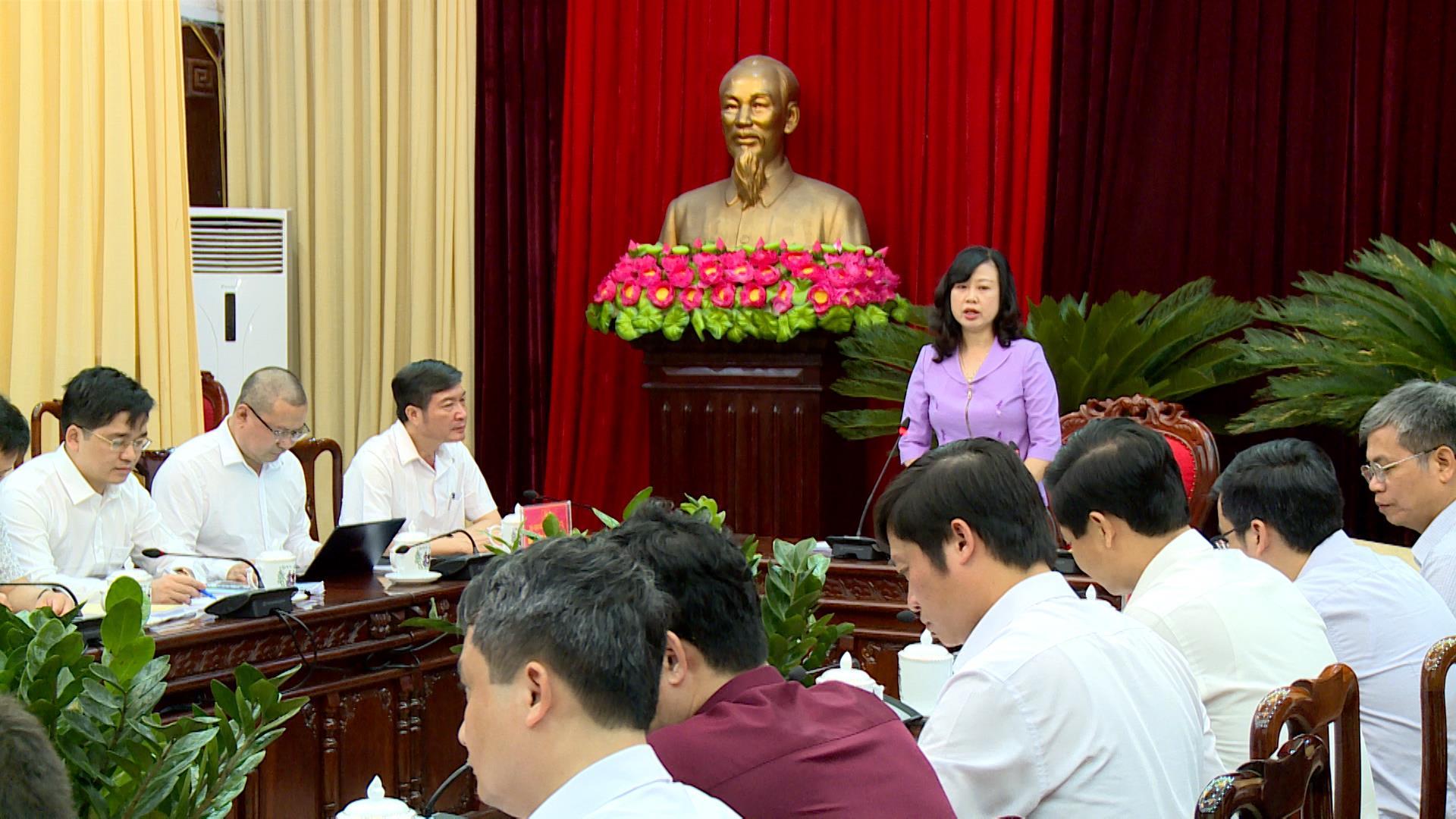 Thường trực Tỉnh ủy họp Tiểu ban Văn kiện Đại hội Đảng