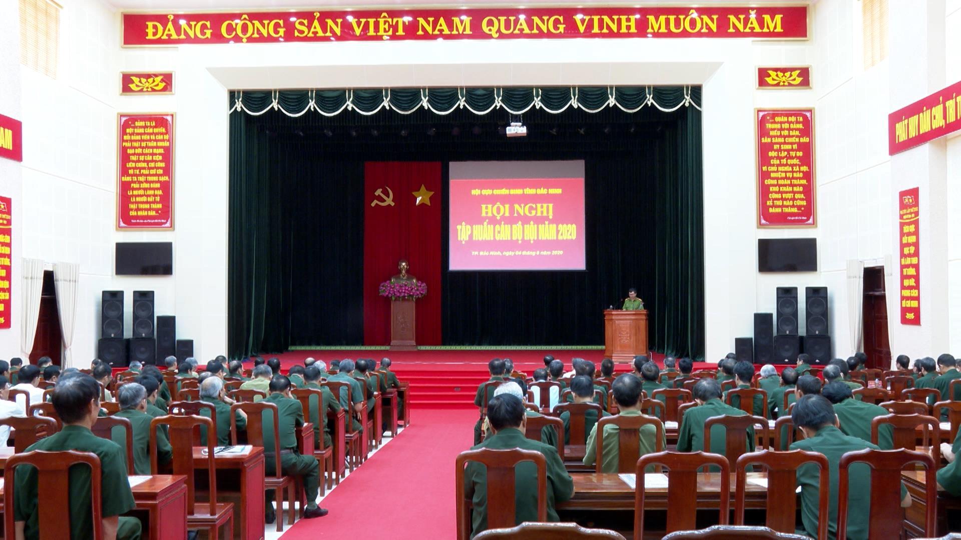 Hội Cựu Chiến binh tỉnh tập huấn nghiệp vụ công tác năm 2020
