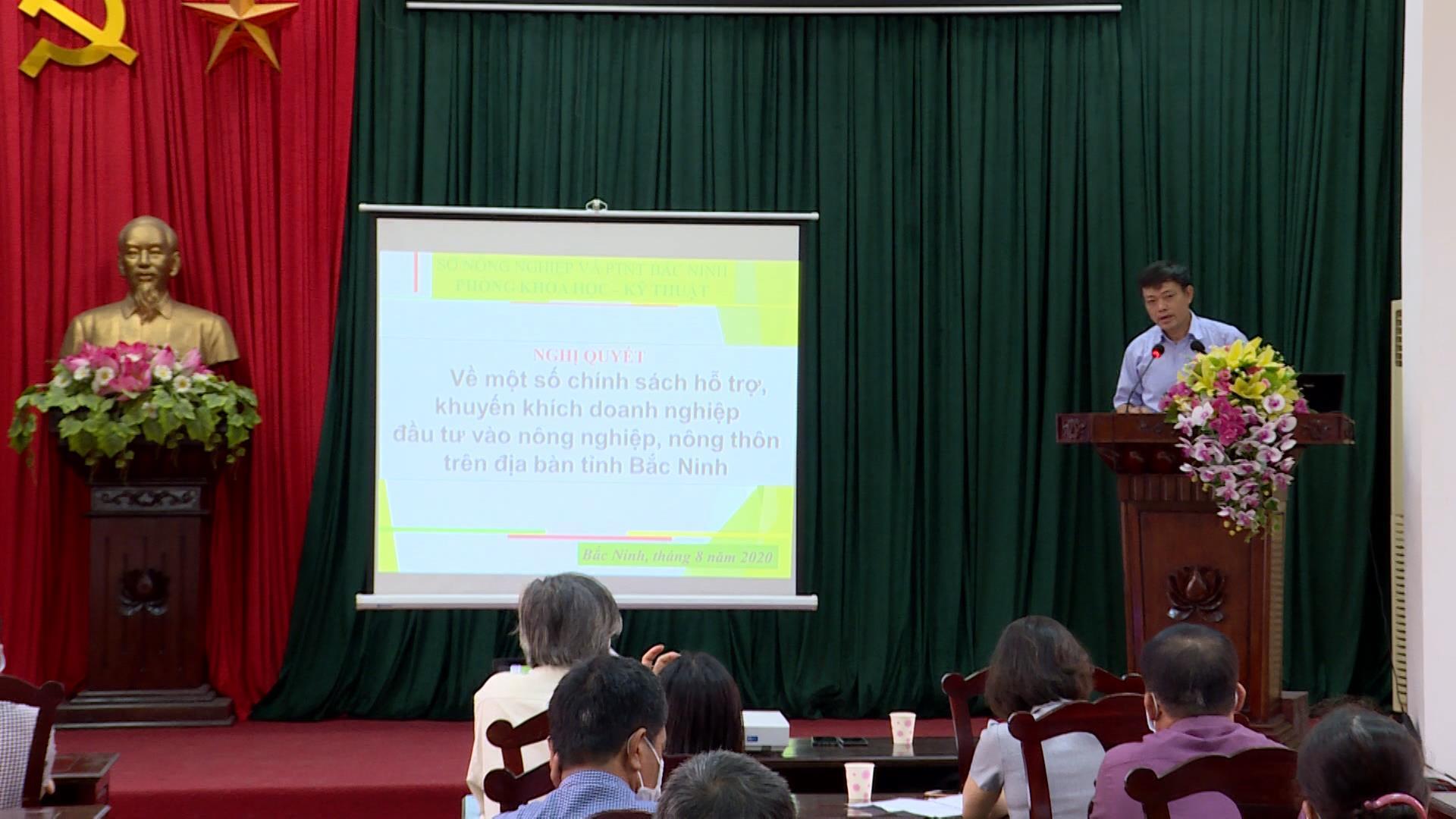 Tập huấn chính sách hỗ trợ phát triển kinh tế nông nghiệp