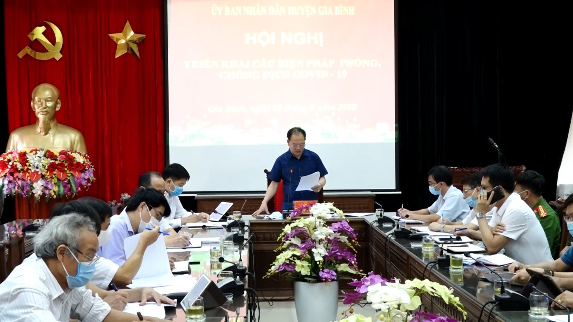 UBND Huyện Gia Bình bàn giải pháp phòng, chống dịch COVID-19