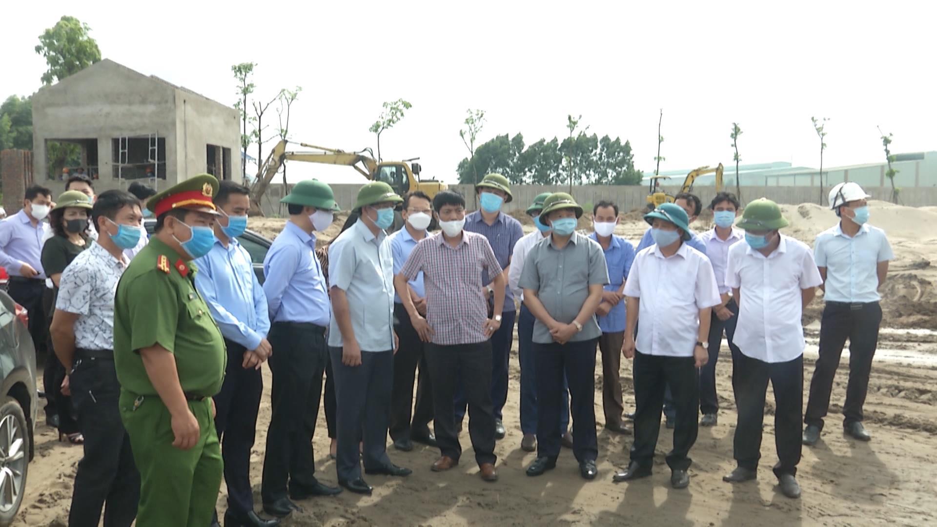 Lãnh đạo tỉnh kiểm tra tiến độ Nhà máy xử lý chất thải rắn công nghệ cao phát năng lượng tại huyện Quế Võ
