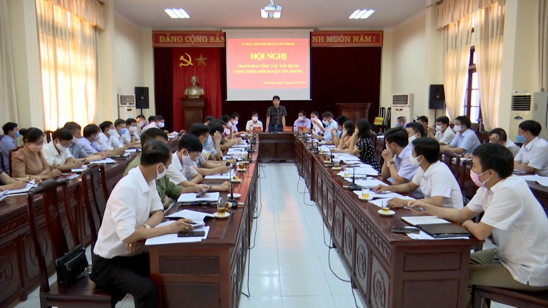 Ban Chỉ đạo xây dựng nông thôn mới tỉnh kiểm tra tại Yên Phong