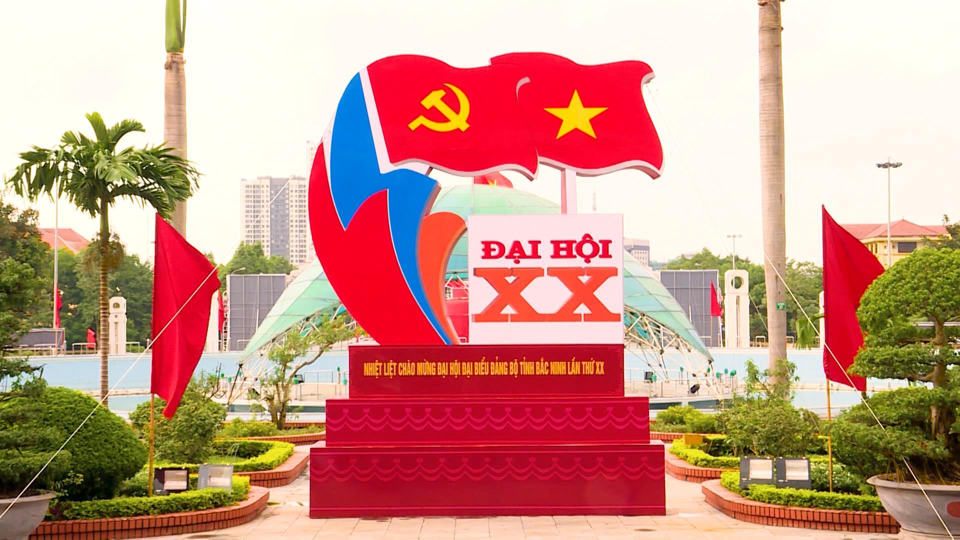Chào mừng Đại hội đại biểu Đảng bộ tỉnh lần thứ XX nhiệm kỳ 2020 - 2025