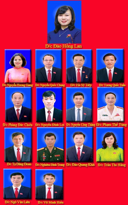 Infographic: Danh sách Ban Thường vụ Tỉnh ủy Bắc Ninh nhiệm kỳ 2020 – 2025