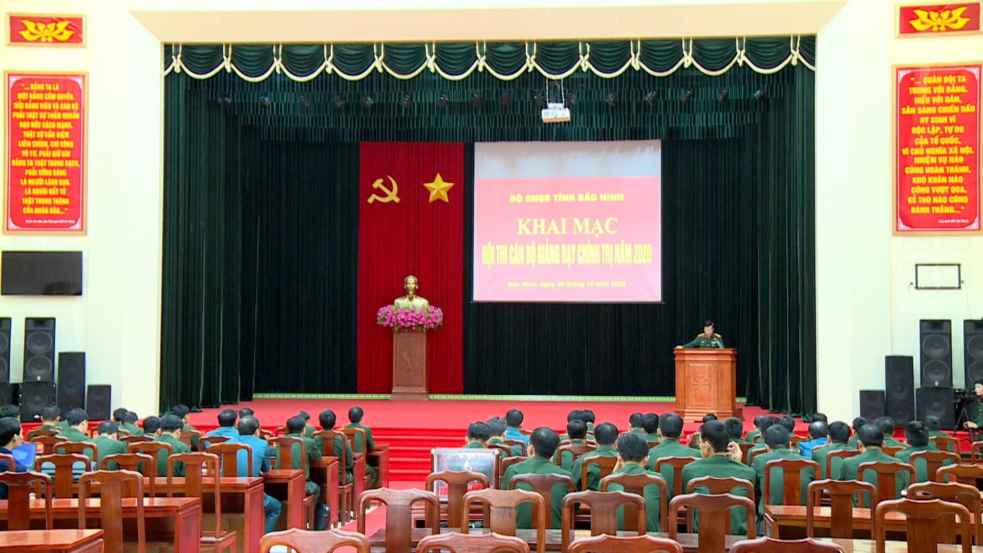 Khai mạc Hội thi cán bộ giảng dạy chính trị cấp Bộ CHQS tỉnh