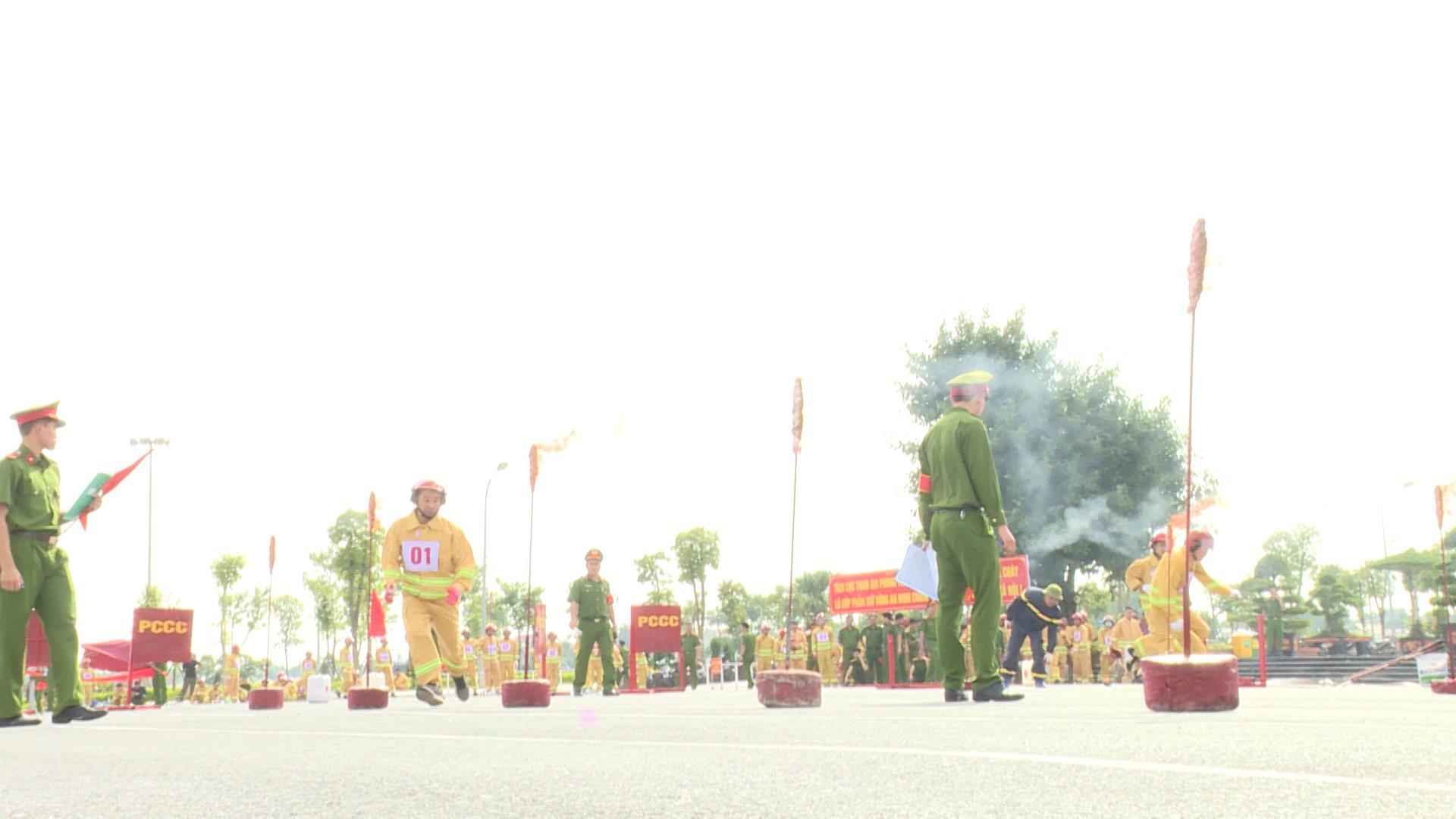 Hội thao kỹ thuật nghiệp vụ chữa cháy và cứu nạn, cứu hộ cho lực lượng dân phòng huyện Thuận Thành 2020
