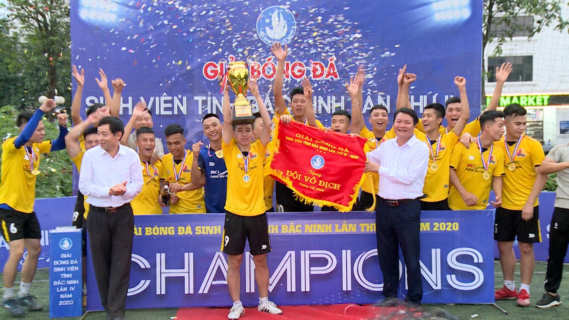 Bế mạc Giải bóng đá sinh viên tỉnh Bắc Ninh lần thứ IV
