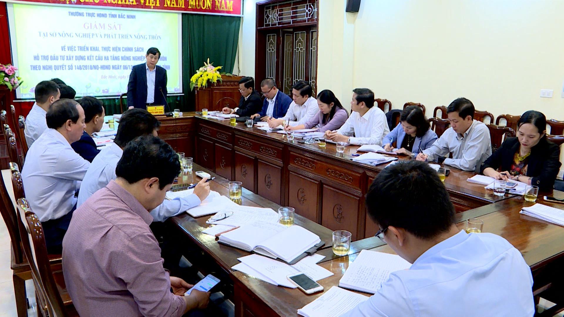 HĐND tỉnh giám sát tại Sở Nông nghiệp và Phát triển nông thôn