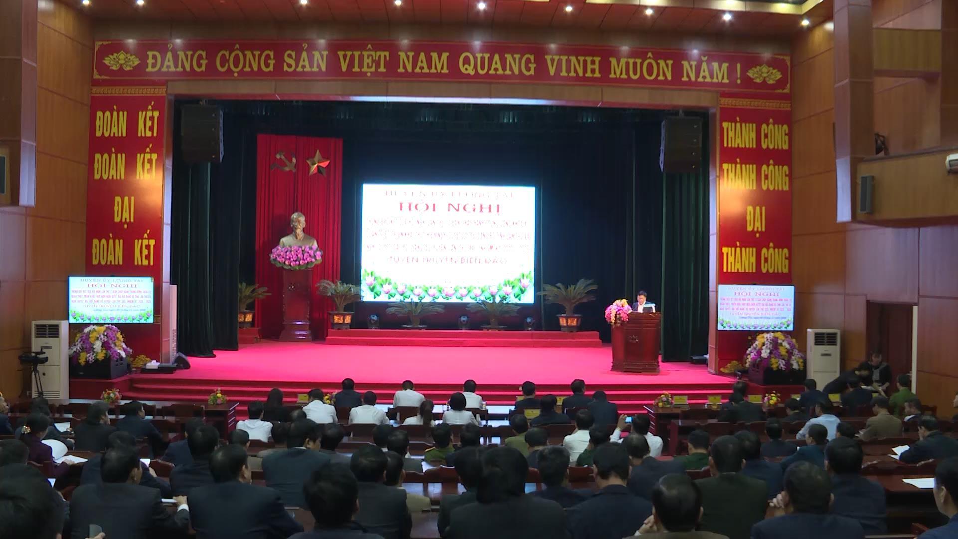 Lương Tài thông báo kết quả Hội nghị lần thứ 13 BCH Trung ương Đảng