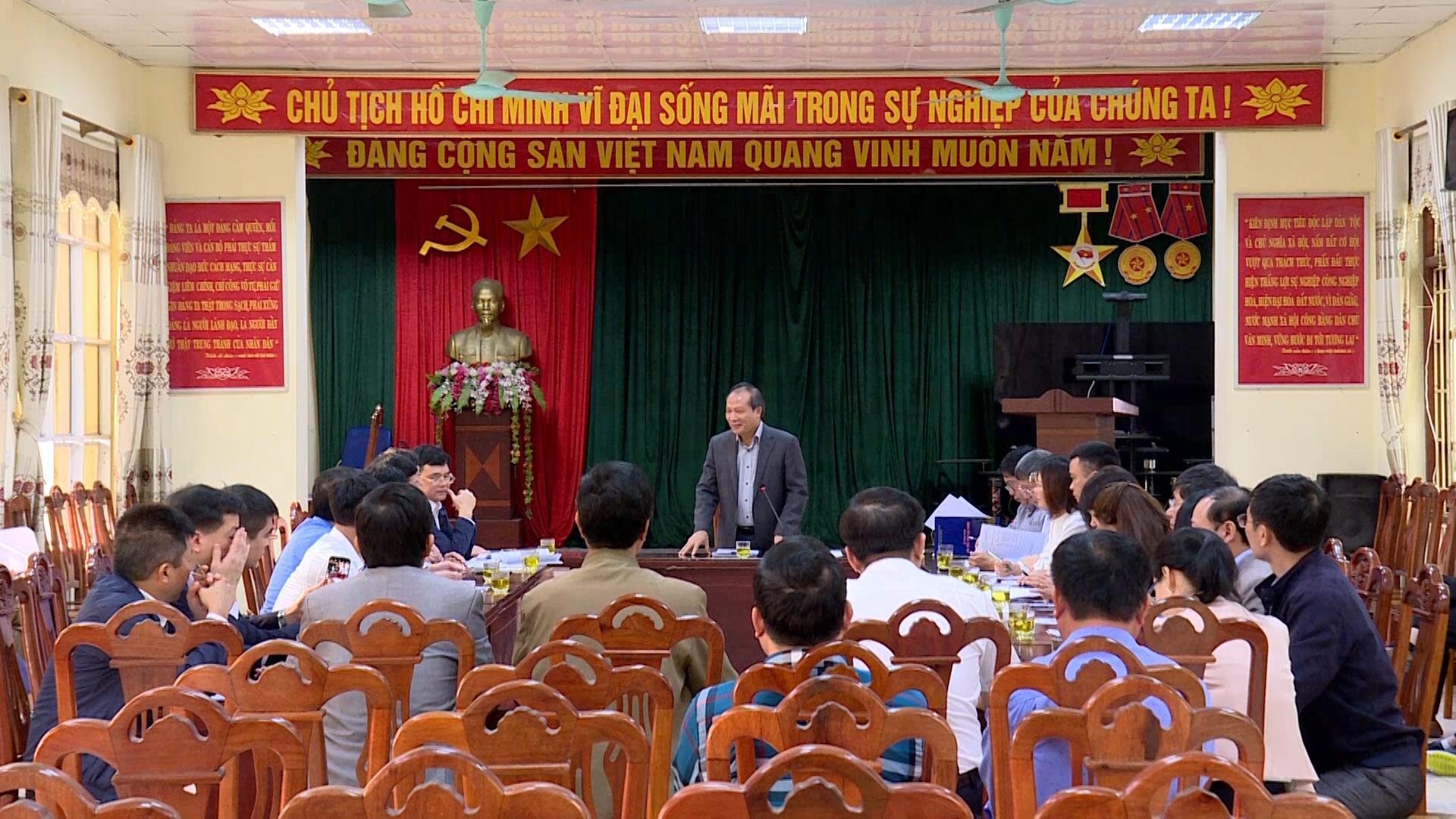 Đoàn công tác của Bộ Công thương làm việc tại huyện Quế Võ