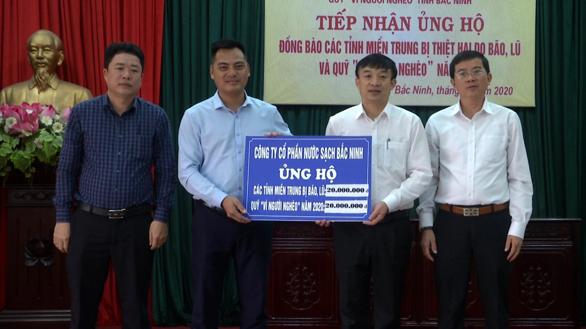 Uỷ ban MTTQ tỉnh tiếp nhận ủng hộ đồng bào các tỉnh miền Trung và Quỹ Vì người nghèo năm 2020