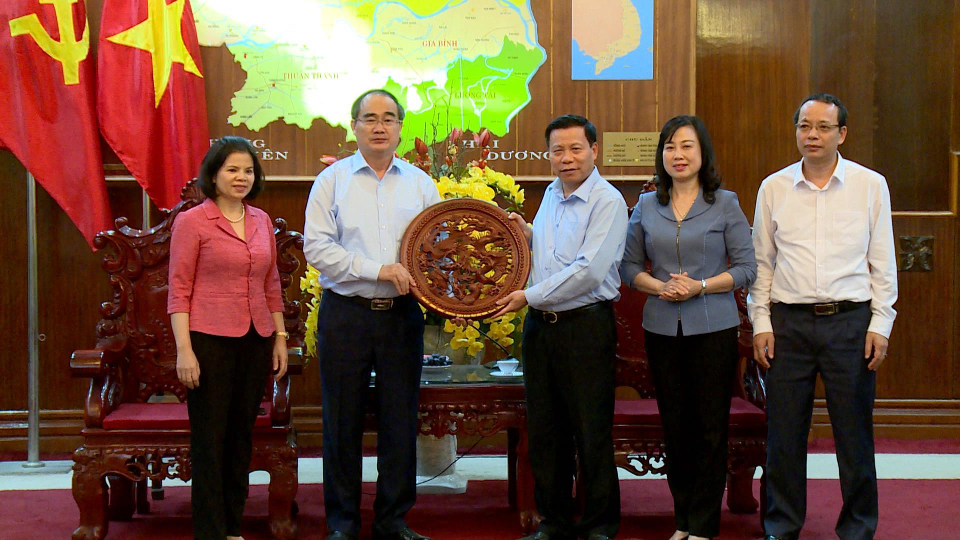 Đồng chí Nguyễn Thiện Nhân làm việc với Tỉnh uỷ Bắc Ninh