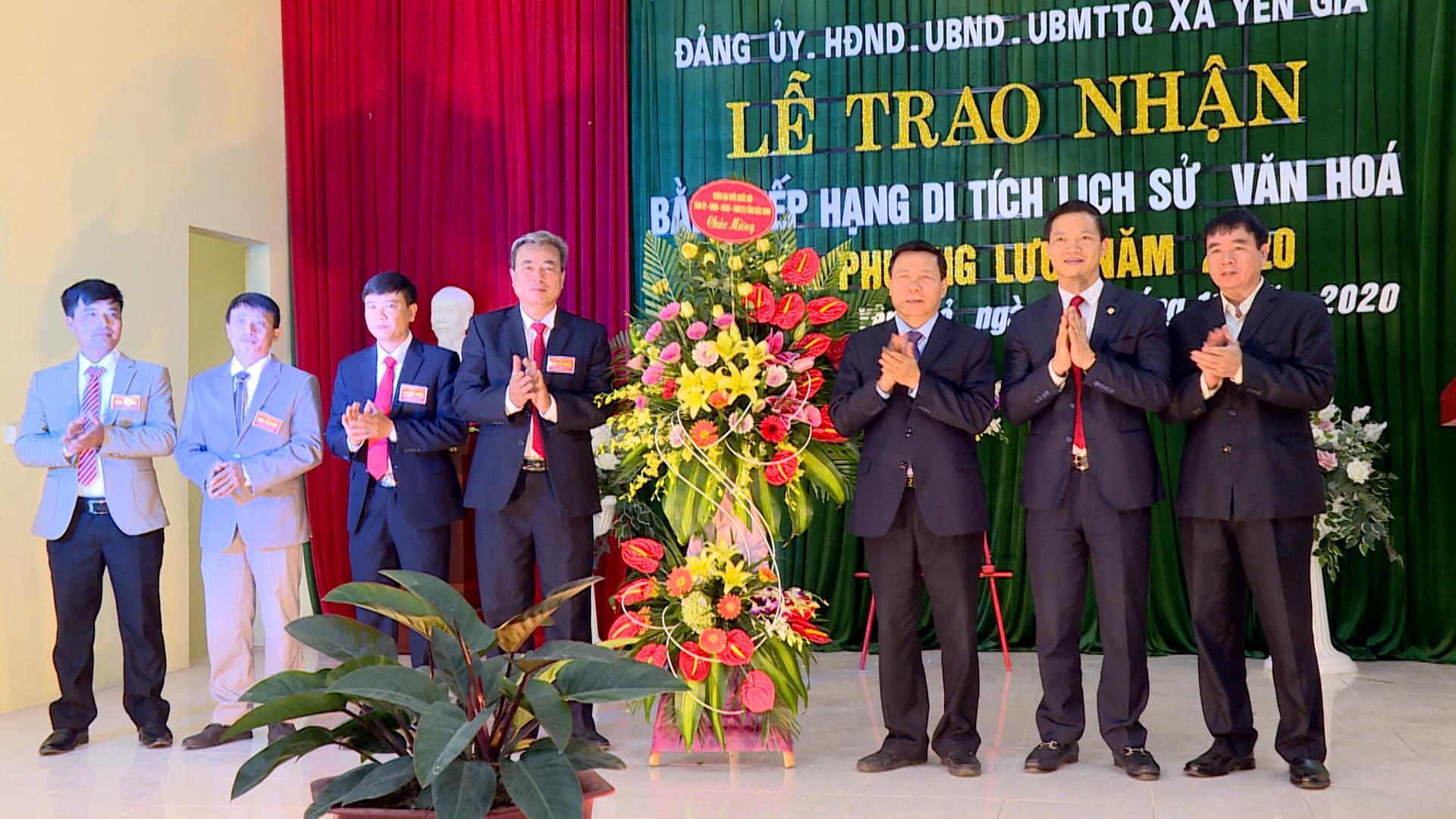 Lễ trao nhận Bằng xếp hạng Di tích lịch sử văn hóa cấp tỉnh  cho Chùa Phương Lưu, xã Yên Giả, huyện Quế Võ