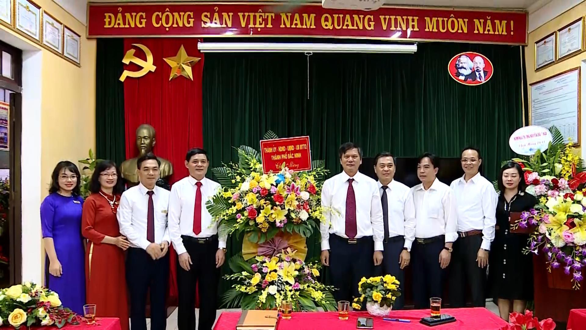 Bí thư Thành ủy Bắc Ninh chúc mừng ngày Nhà giáo Việt Nam 20/11
