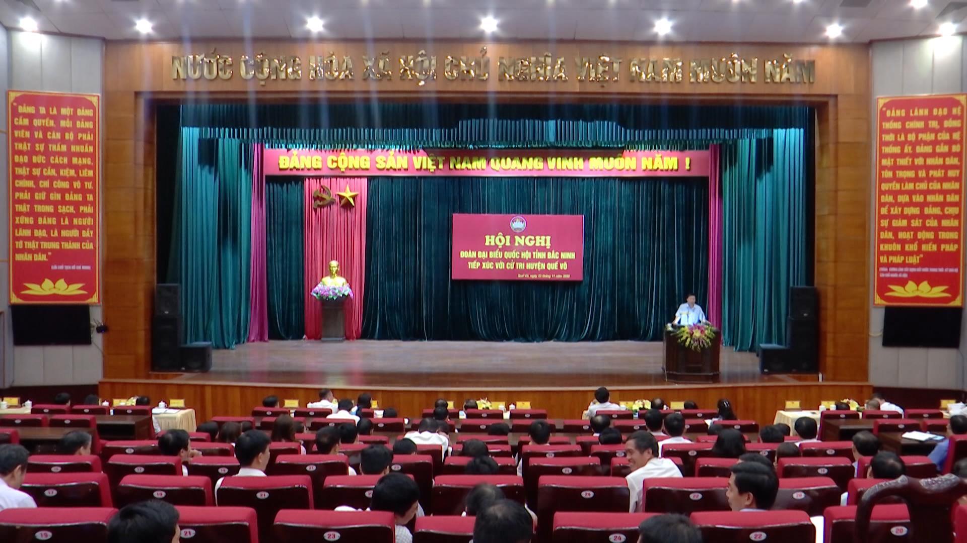 Đoàn Đại biểu Quốc hội tỉnh tiếp xúc cử tri huyện Quế Võ
