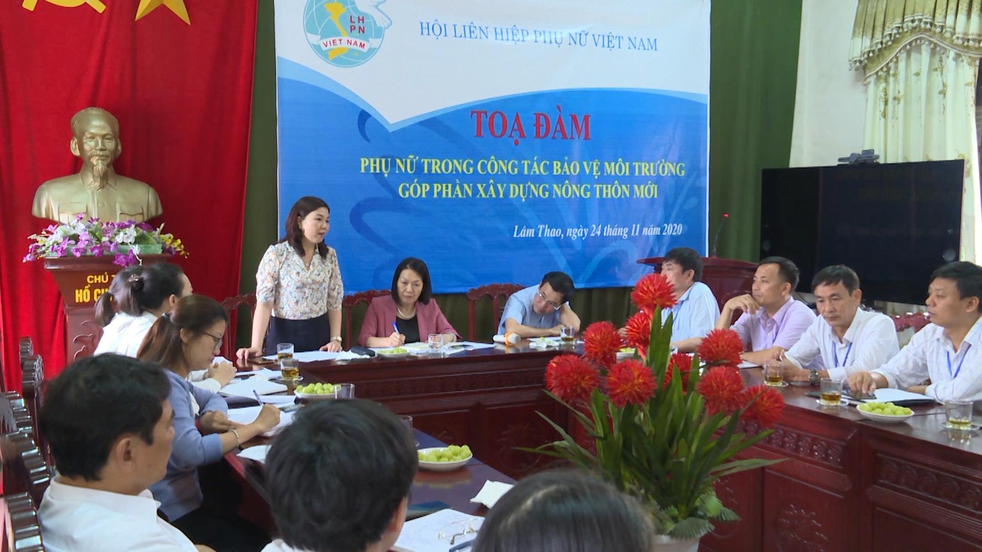 Hội Liên hiệp Phụ nữ Việt Nam kiểm tra, giám sát công tác bảo vệ môi trường tại Lương Tài