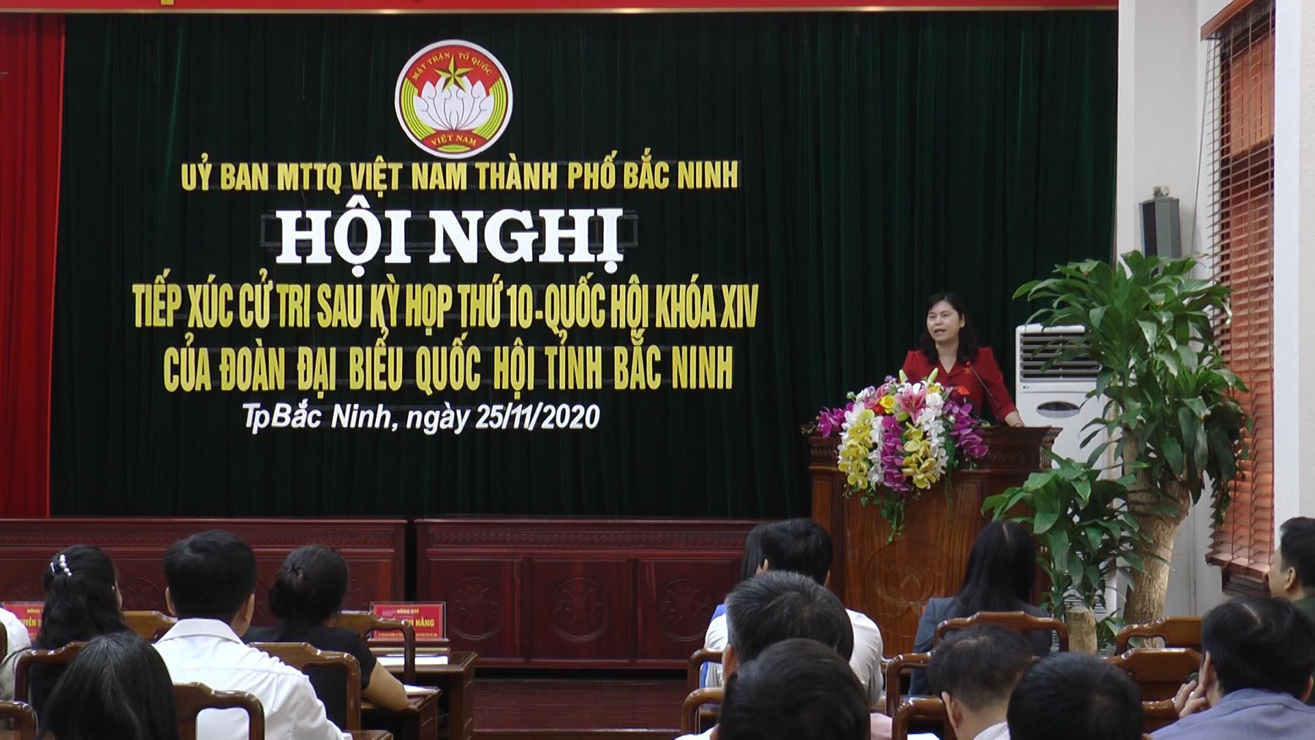 Đoàn Đại biểu Quốc hội tỉnh tiếp xúc cử tri thành phố Bắc Ninh
