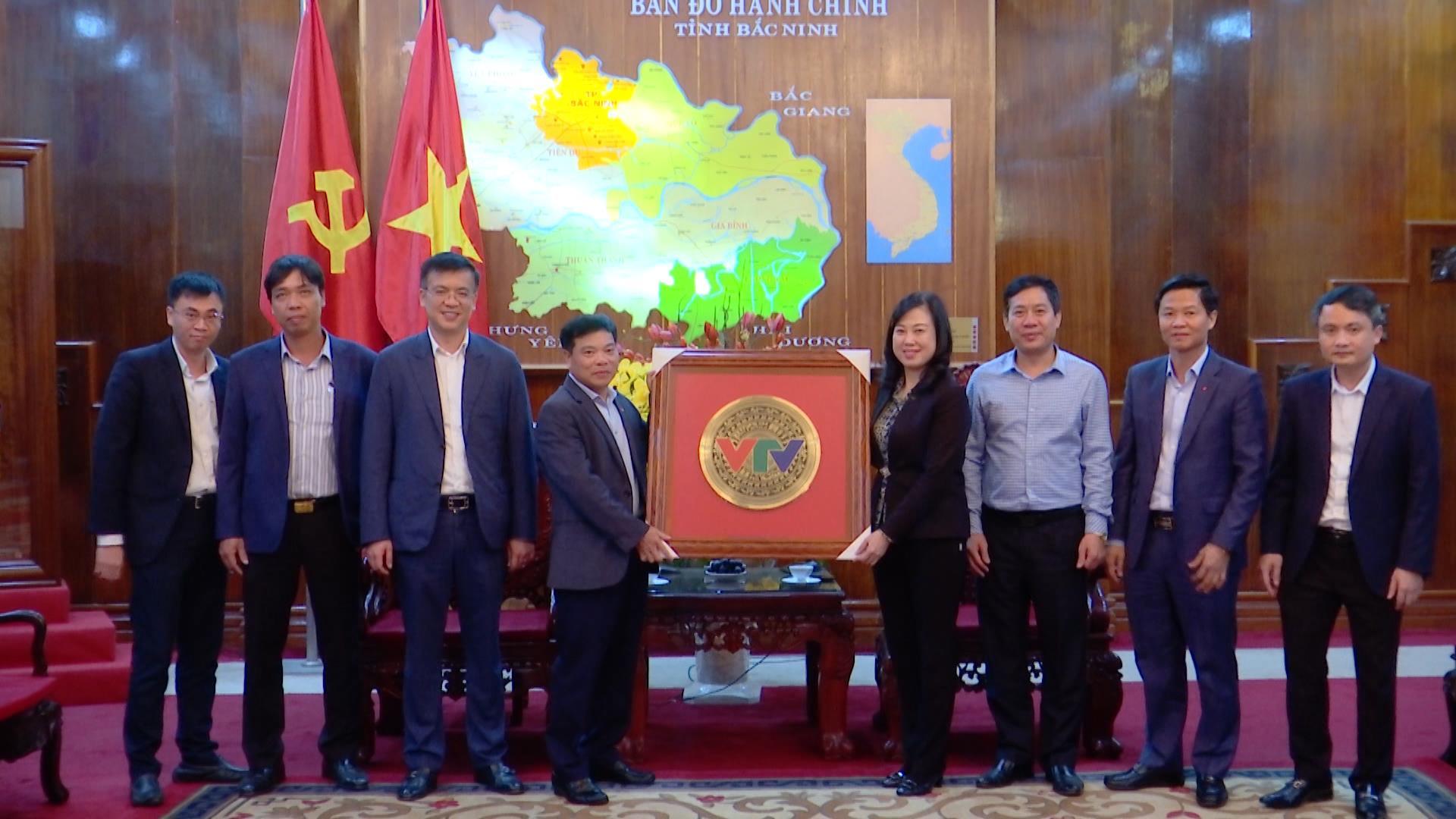 Bí thư Tỉnh ủy Đào Hồng Lan tiếp đoàn công tác Đài Truyền hình Việt Nam
