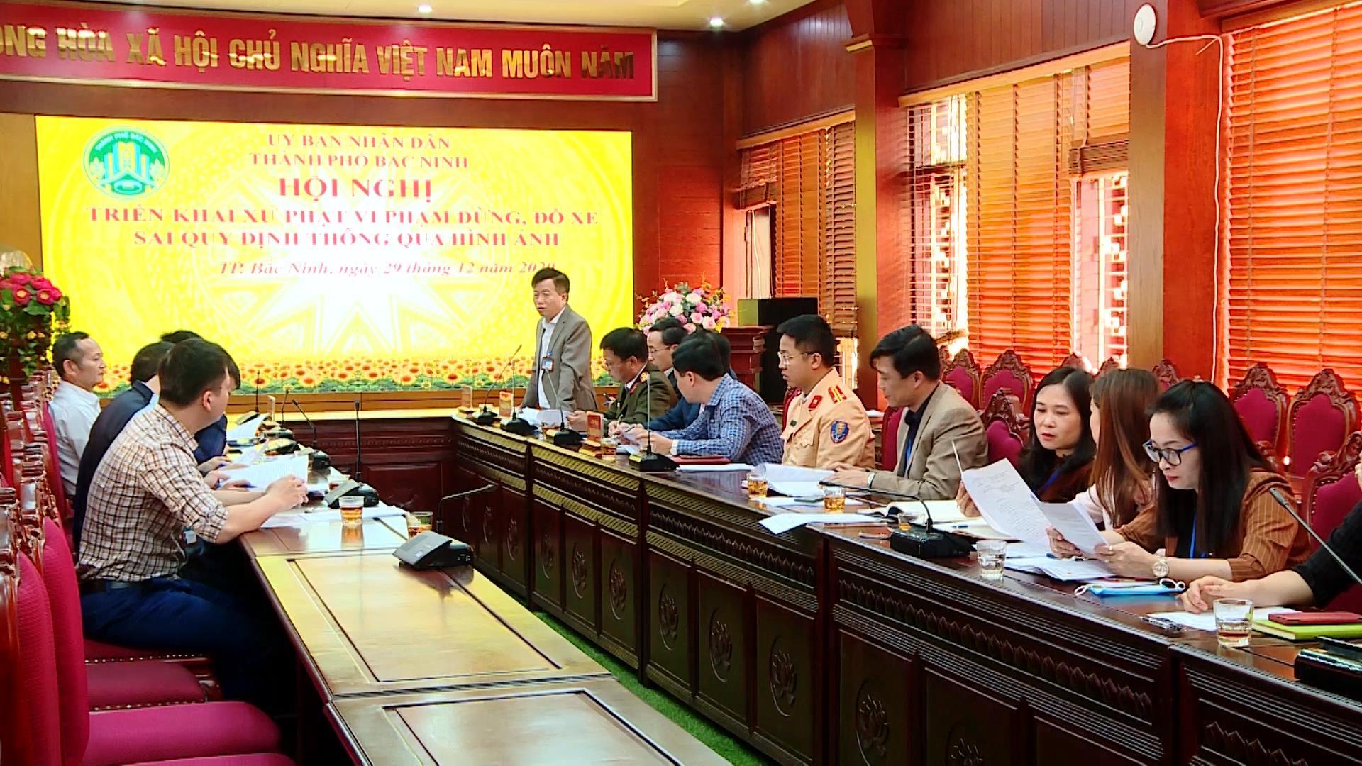 Thành phố Bắc Ninh triển khai xử lý phương tiện  dừng, đỗ sai quy định thông qua hình ảnh