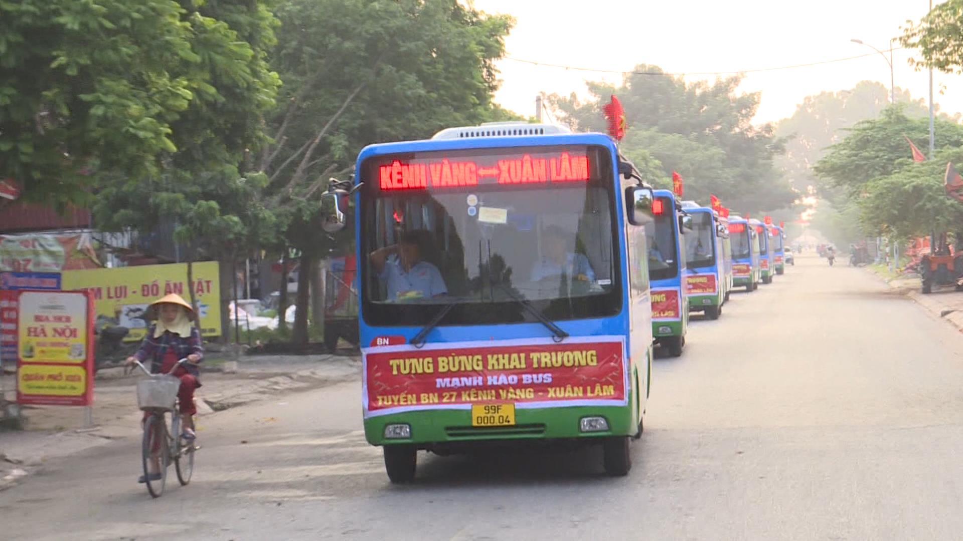 Hoạt động trở lại tuyến xe buýt Kênh Vàng- Xuân Lâm