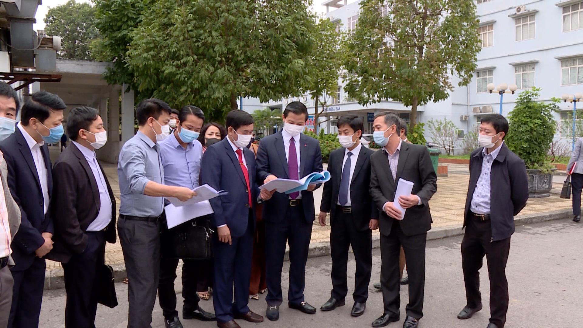 Triển khai dự án xây dựng, nâng cấp Trung tâm Y tế huyện Yên Phong