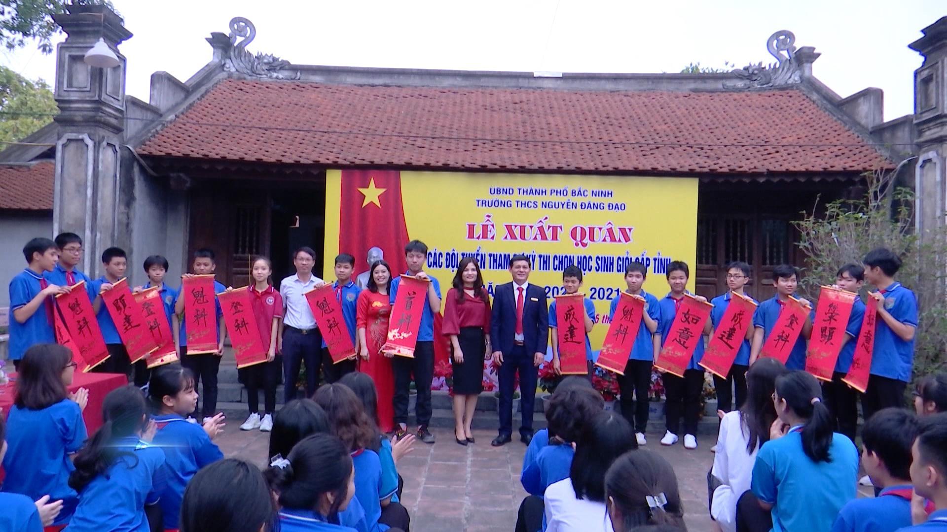 Lễ xuất quân các đội tuyển tham dự kỳ thi học sinh giỏi cấp tỉnh năm học 2020-2021