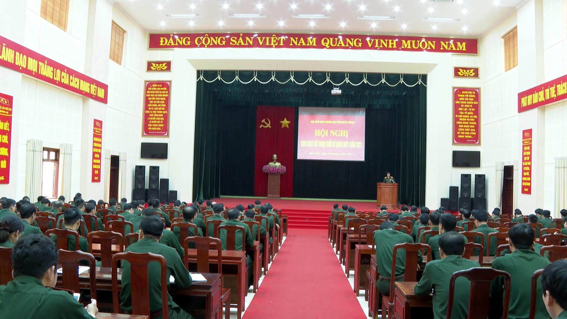 Bộ Chỉ huy Quân sự tỉnh đối thoại dân chủ với cán bộ chiến sĩ