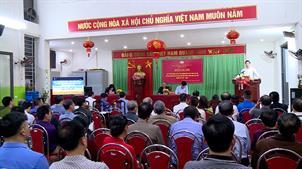 Lấy ý kiến nhận xét đối với người ứng cử đại biểu HĐND các cấp  tại khu phố 5 phường Ninh Xá, TP Bắc Ninh