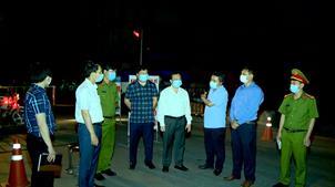 Huyện Tiên Du kiểm tra các chốt phong tỏa kiểm soát phòng, chống dịch Covid-19  tại xã Hiên Vân và Liên Bão