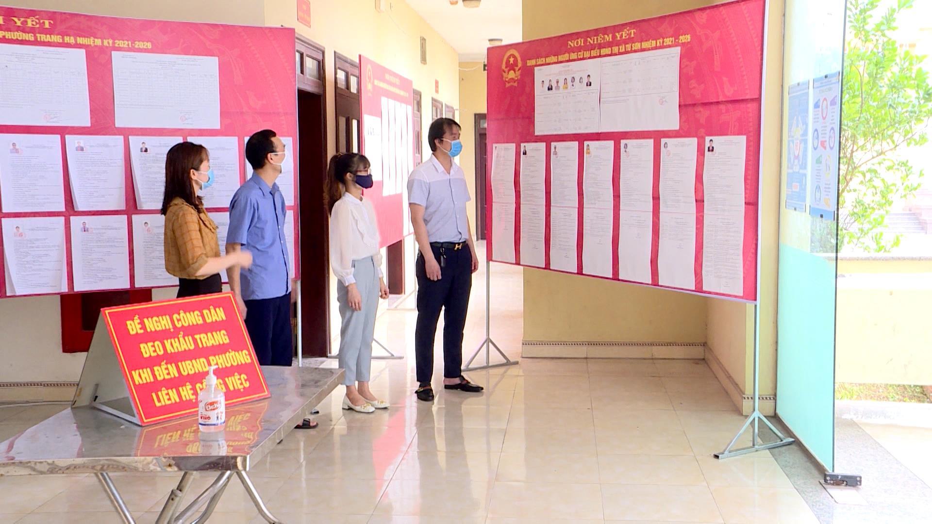 HĐND tỉnh giám sát công tác bầu cử