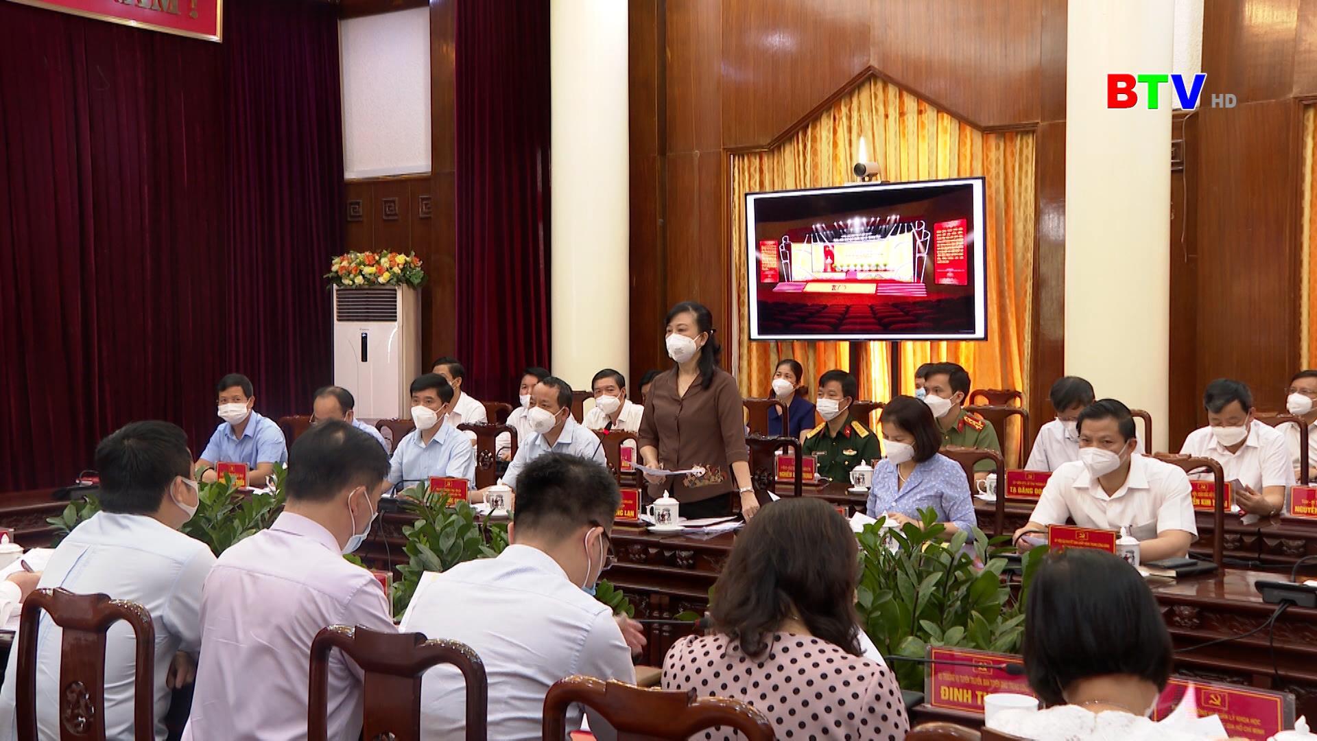 Thống nhất nội dung, chương trình kỷ niệm 100 năm ngày sinh đồng chí Lê Quang Đạo
