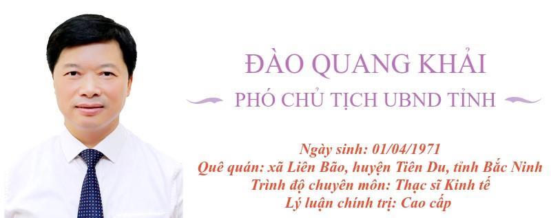 Chân dung Phó Chủ tịch UBND tỉnh Đào Quang Khải