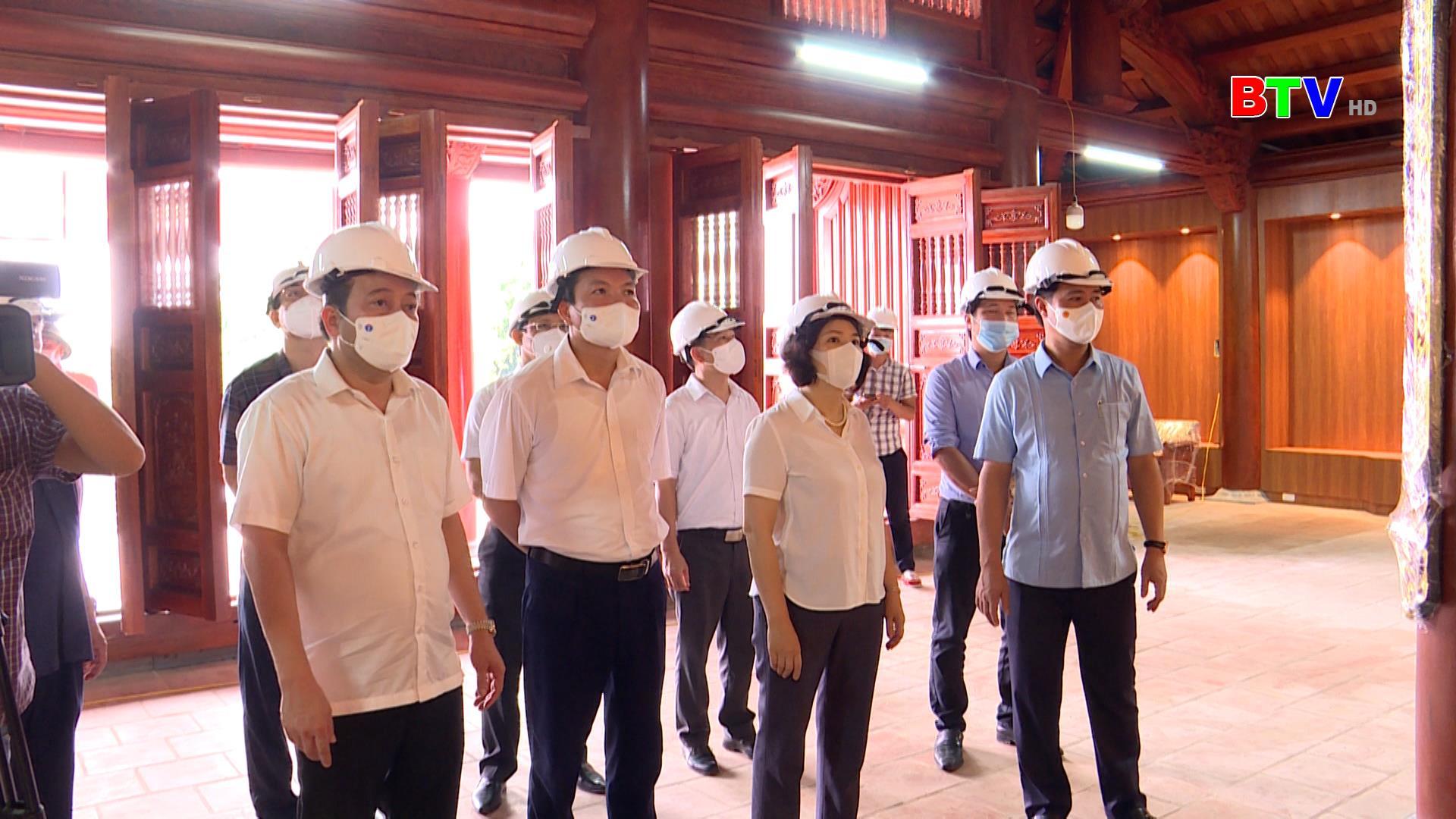 Chủ tịch UBND tỉnh kiểm tra công tác chuẩn bị tổ chức Lễ kỷ niệm 100 năm ngày sinh đồng chí Lê Quang Đạo