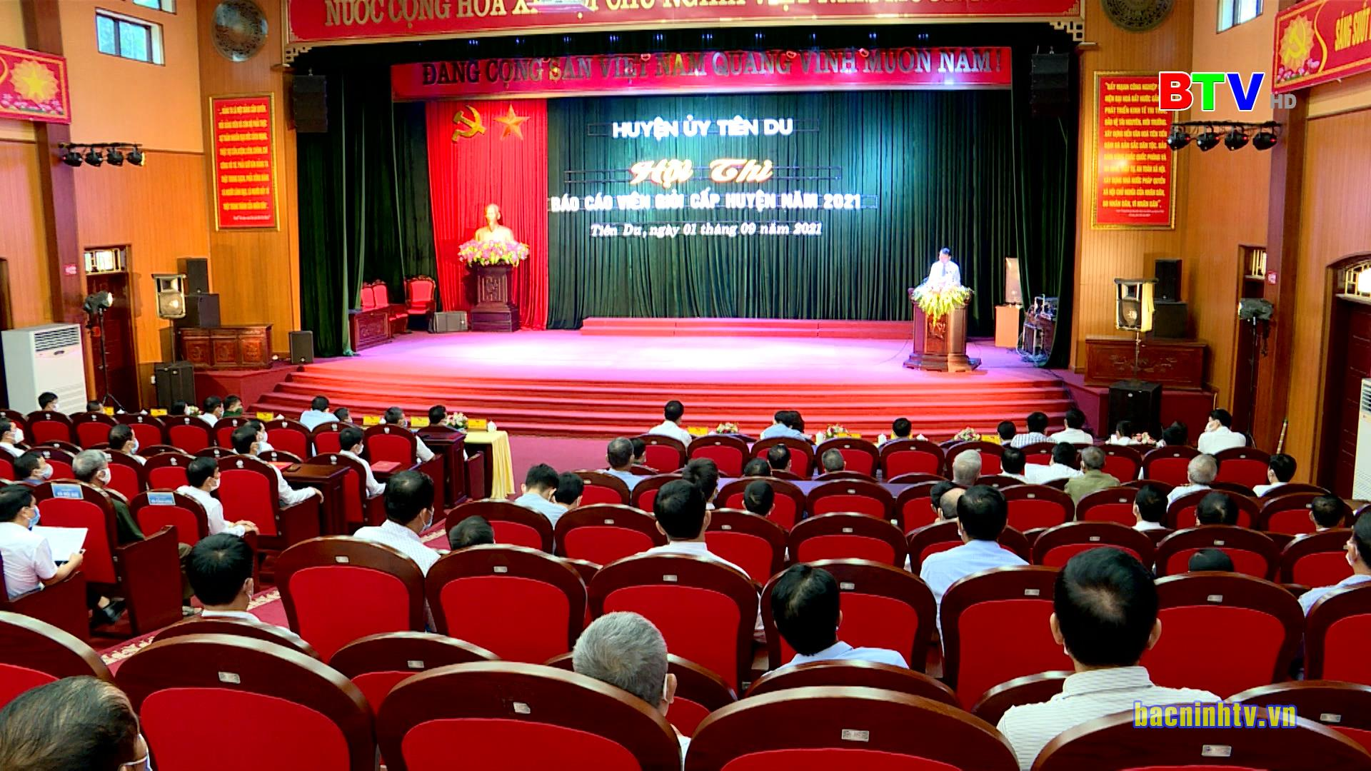 Tiên Du tổ chức Hội thi Báo cáo viên giỏi năm 2021