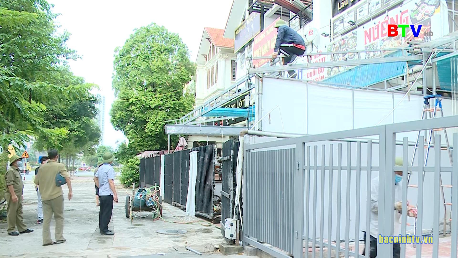 Thành phố Bắc Ninh ra quân xử lý các trường hợp vi phạm trật tự đô thị