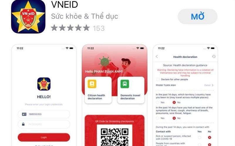 Bộ Công an triển khai ứng dụng khai báo y tế điện tử VIEID