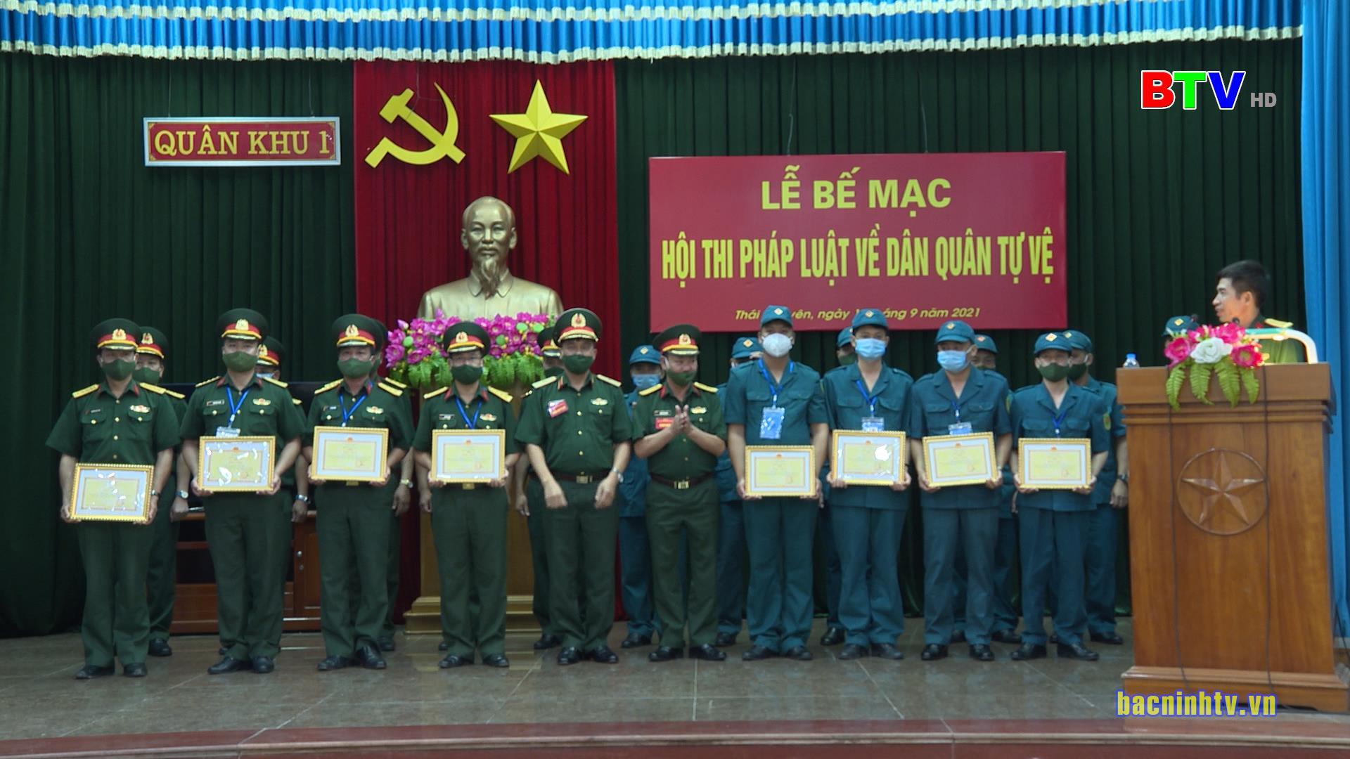Đoàn Bộ CHQS tỉnh Bắc Ninh đạt giải Ba Hội thi Pháp luật về dân quân tự vệ năm 2021