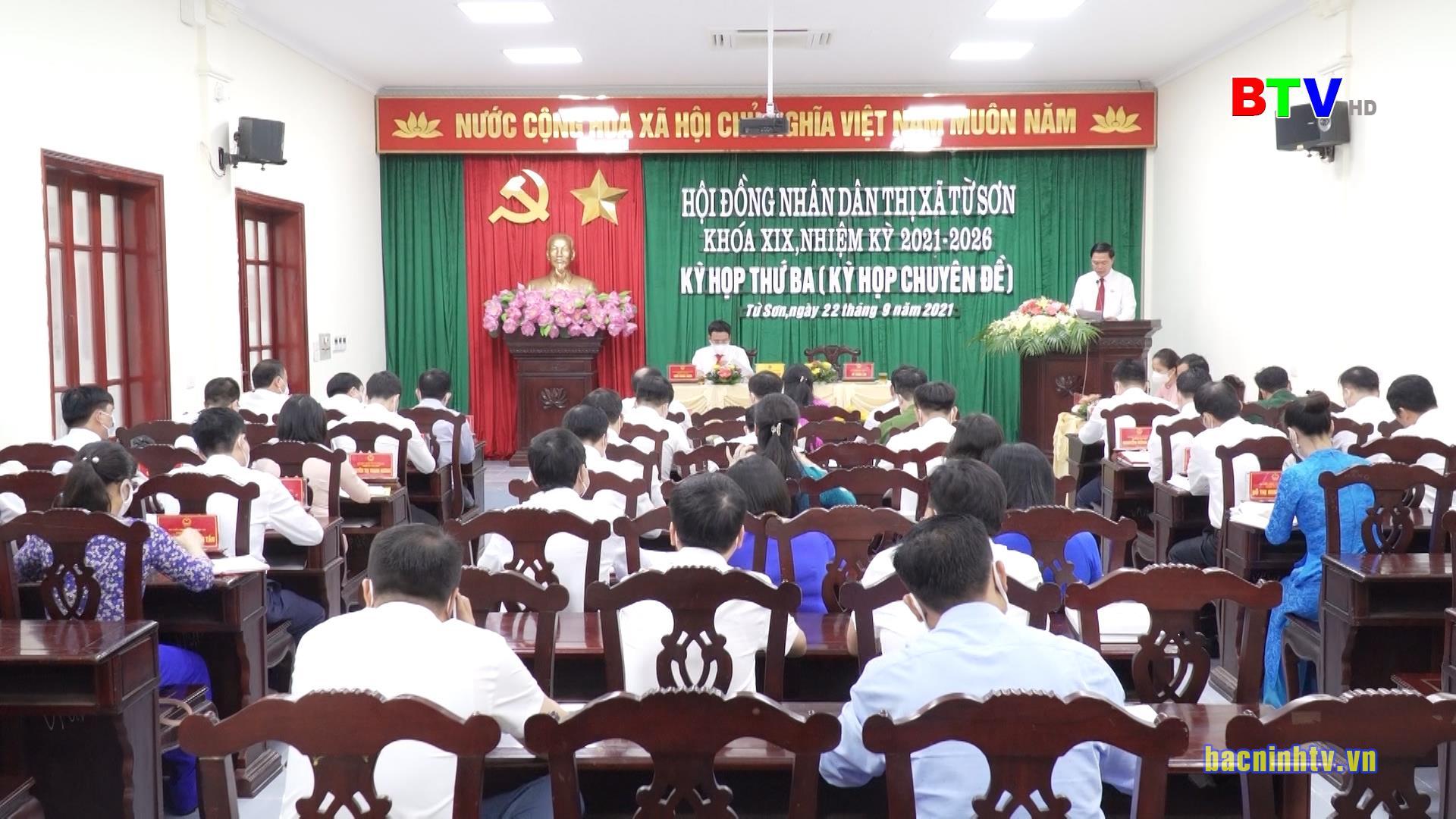 Kỳ họp thứ Ba, HĐND thị xã Từ Sơn khóa XIX - 2021