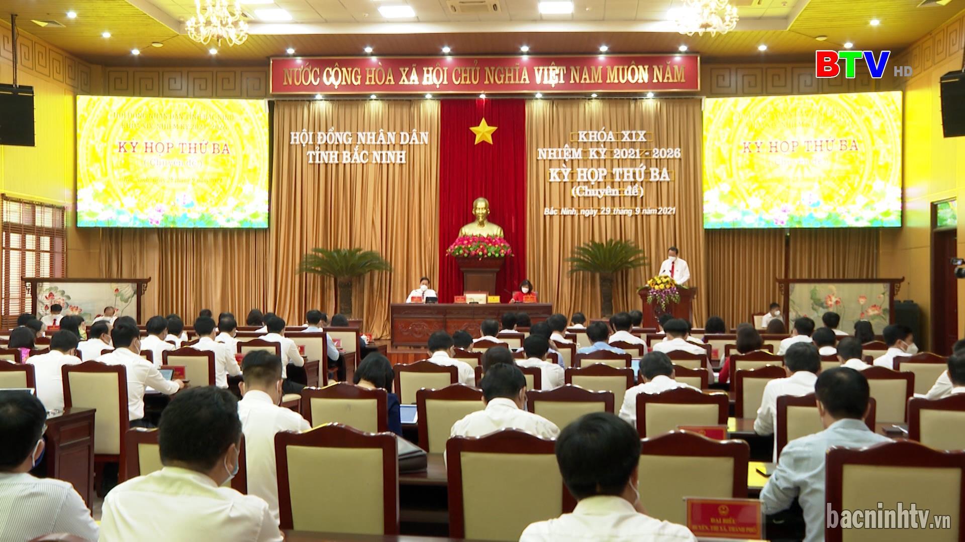 Kỳ họp thứ Ba ( chuyên đề) HĐND tỉnh khóa XIX