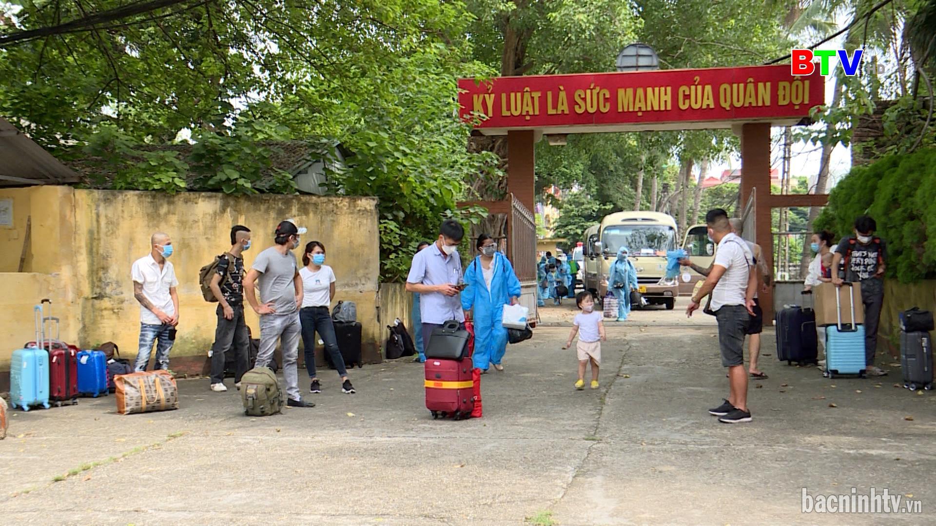 Bắc Ninh đón công dân trở về từ thành phố Hồ Chí Minh