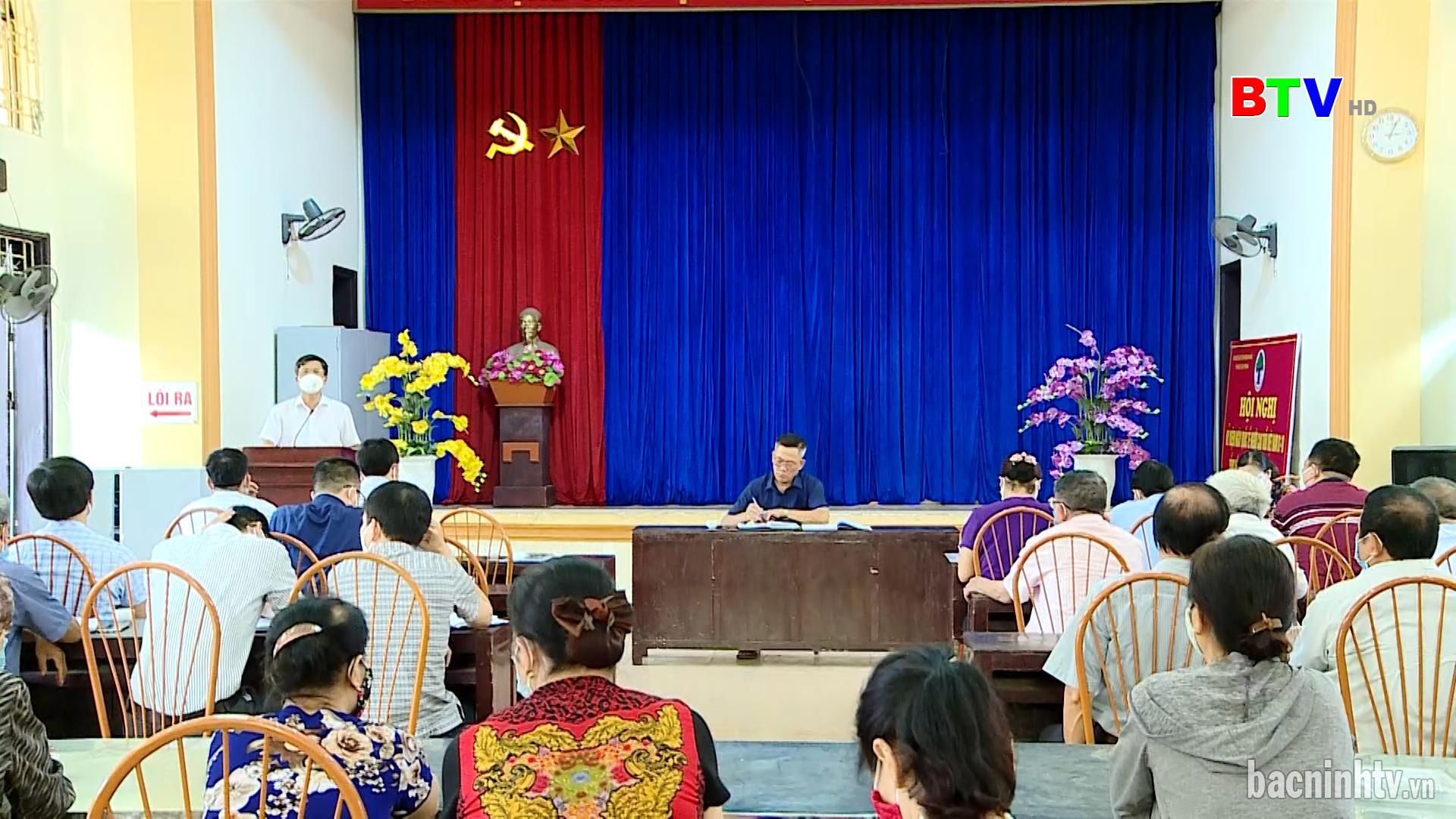 Bí thư Thành ủy Bắc Ninh dự sinh hoạt chi bộ khu Yên Mẫn, phường Kinh Bắc