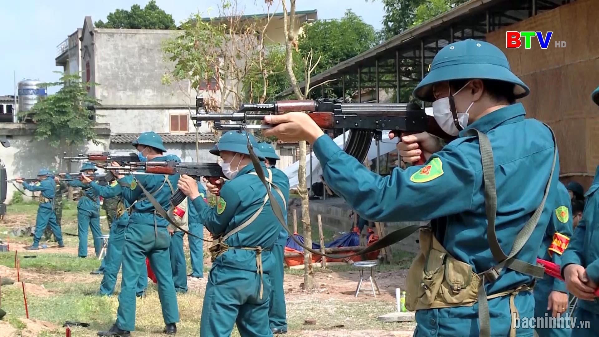 Thành phố Bắc Ninh: Kiểm tra kết thúc huấn luyện DQTV năm 2021