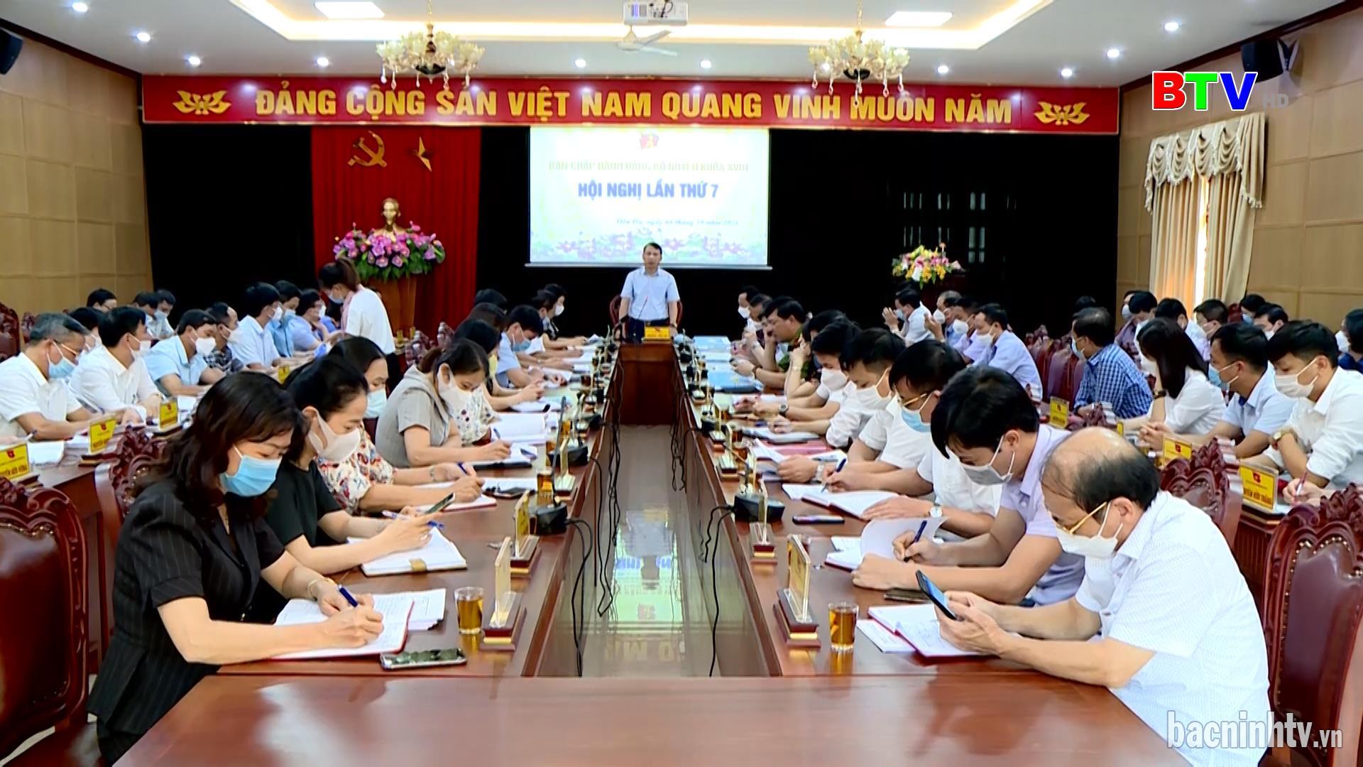 Hội nghị lần thứ 7 Ban Chấp hành Đảng bộ huyện Tiên Du khóa XVIII