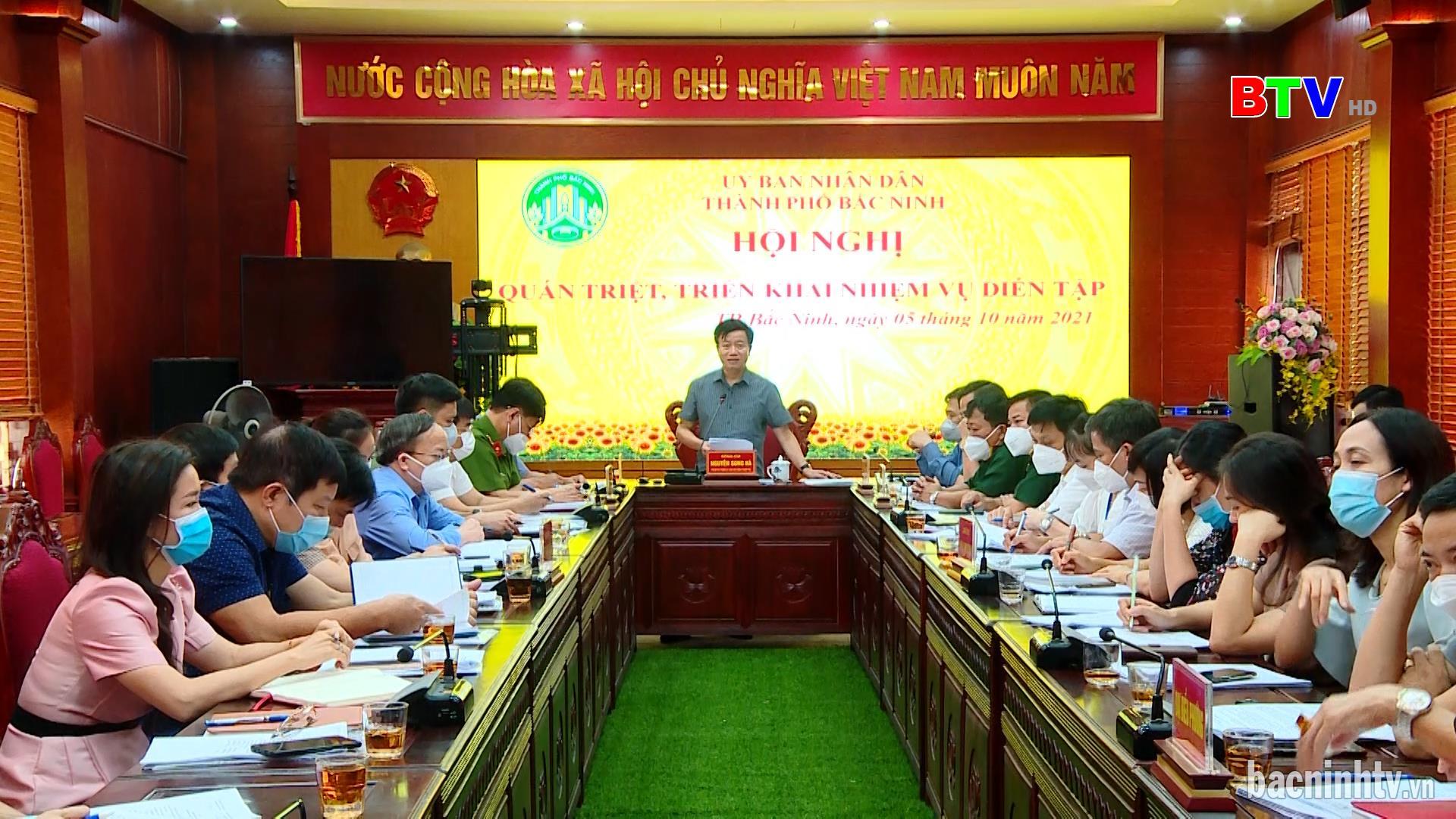 Thành phố Bắc Ninh quán triệt, triển khai nhiệm vụ diễn tập chiến đấu phòng thủ