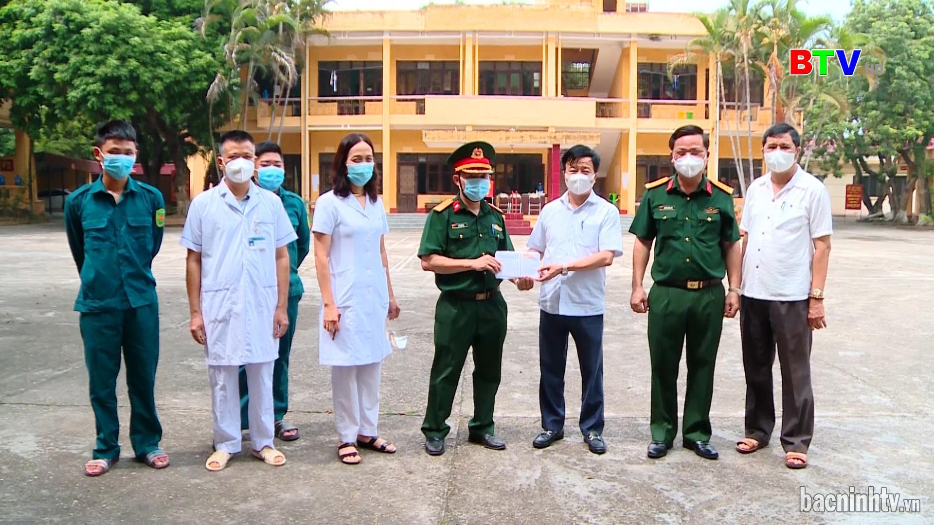 Thành phố Bắc Ninh kiểm tra khu cách ly tập trung các công dân trở về  địa phương từ thành phố Hồ Chí Minh