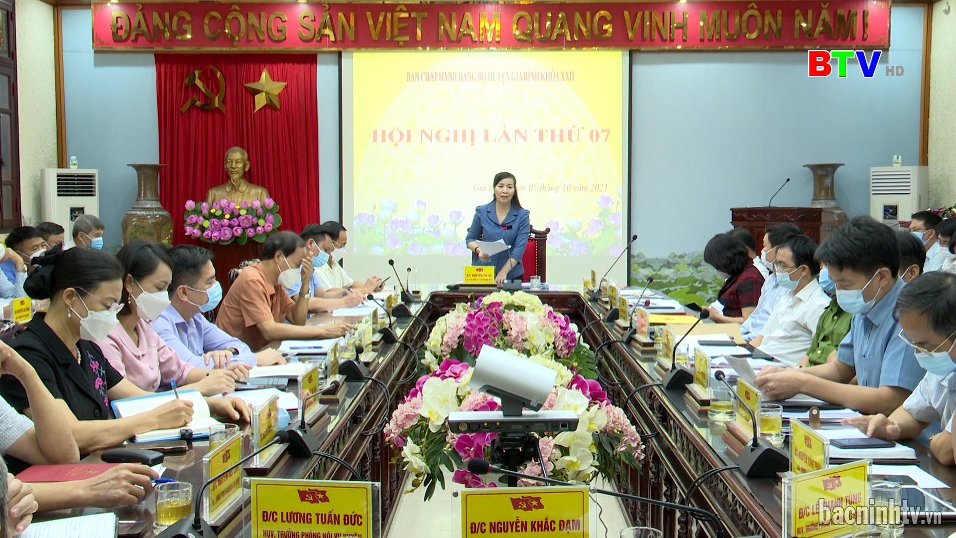 Hội nghị lần thứ 7 Ban chấp hành Đảng bộ huyện Gia Bình khóa XXII