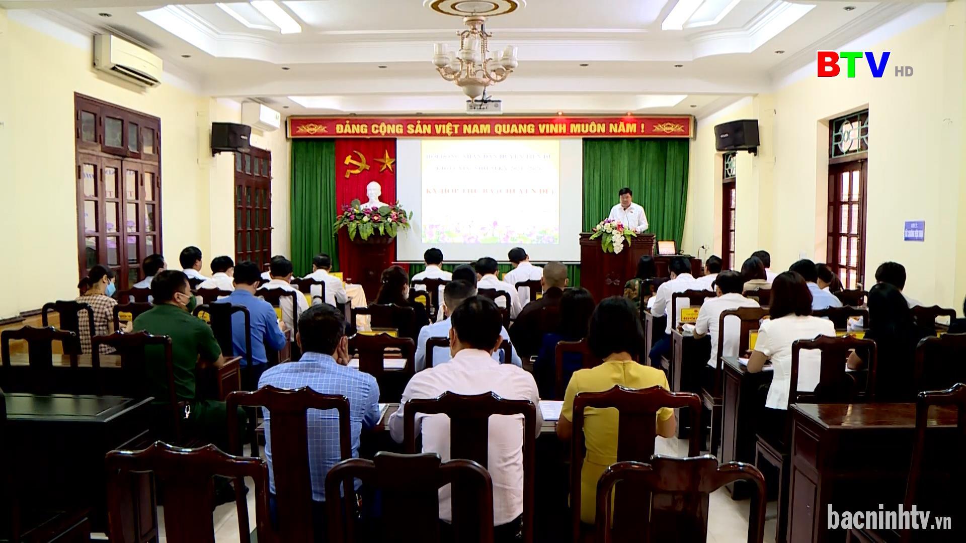 Kỳ họp thứ Ba HĐND huyện Tiên Du khóa XIX nhiệm kỳ 2021-2026